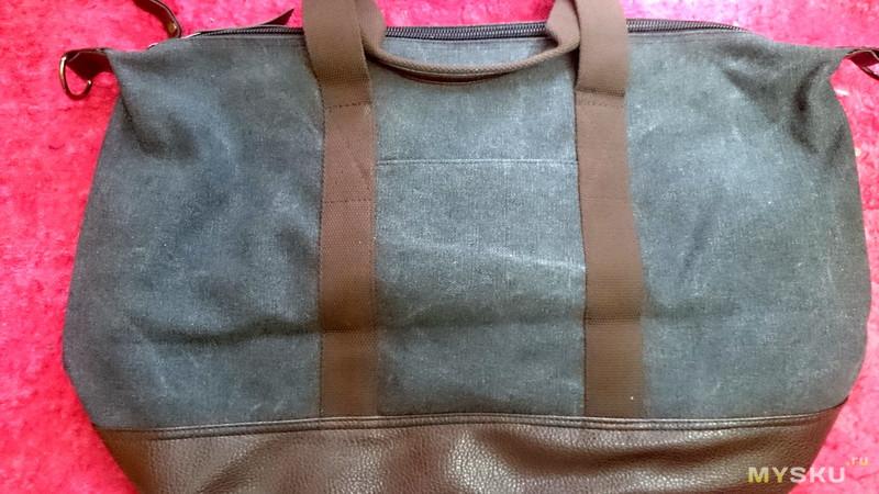 Вместительная сумка из холста