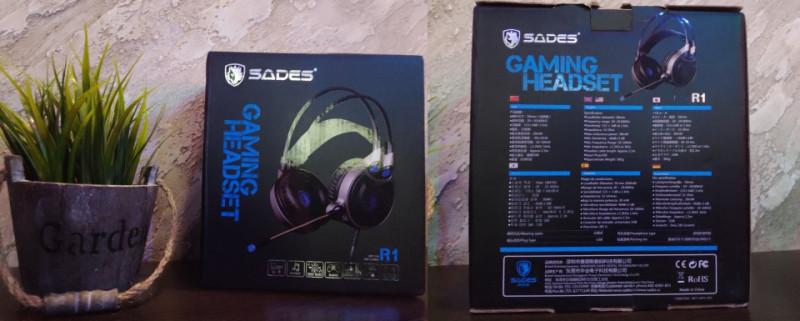 Игровая гарнитура с 7.1 с звуком.Sades R1