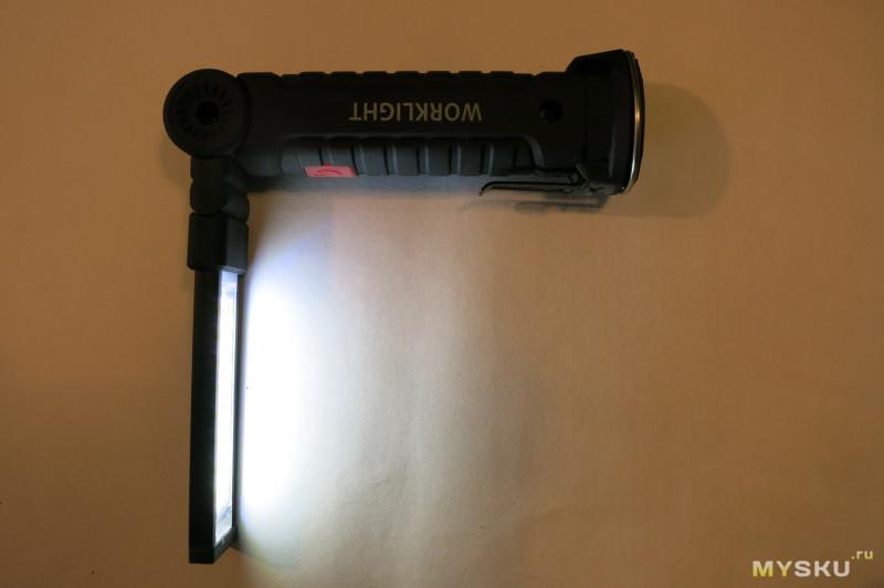 Портативный светодиодный складной многоцелевой фонарик, рабочий аварийный свет с магнитом.