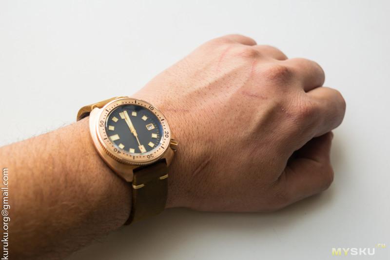 """Часы от микробренда """"San Martin"""" - Бронзовая """"черепаха"""" из Китая"""