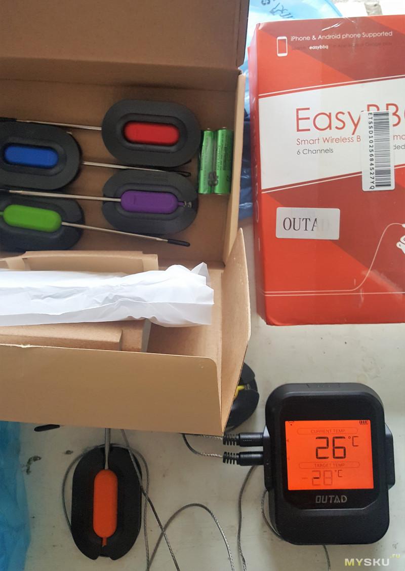 Беспроводной термометр Bluetooth с 6 датчиками за 7$ (10$ - с доставкой)