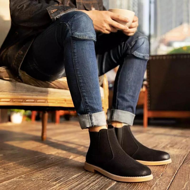 -$20 на Мужские ботинки Maishi Xiaomi Youpin из кожи КРС (спилок). Предзаказ $64.99