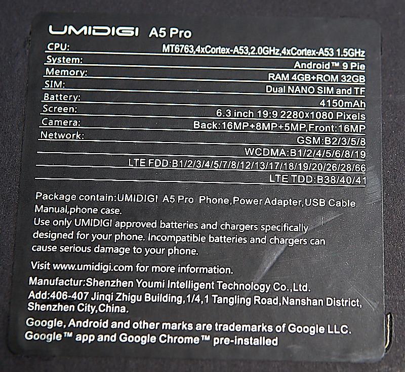 UMIDIGI A5 Pro