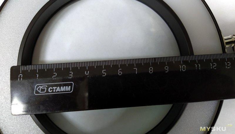 Лупа настольная с USB подсветкой NEWACALOX 5X