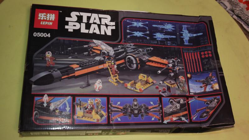 конструктор истребителя из звездных войн Lepin 05004 Poe's X-Wing Fighter, 748 деталей