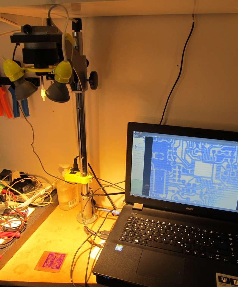 UV Laser Exposer – еще один способ изготовления печатных плат дома.