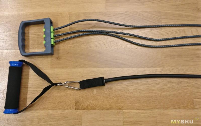 Полезный набор резиновых эспандеров - хорошая нагрузка на разные группы мышц в одном мешке.