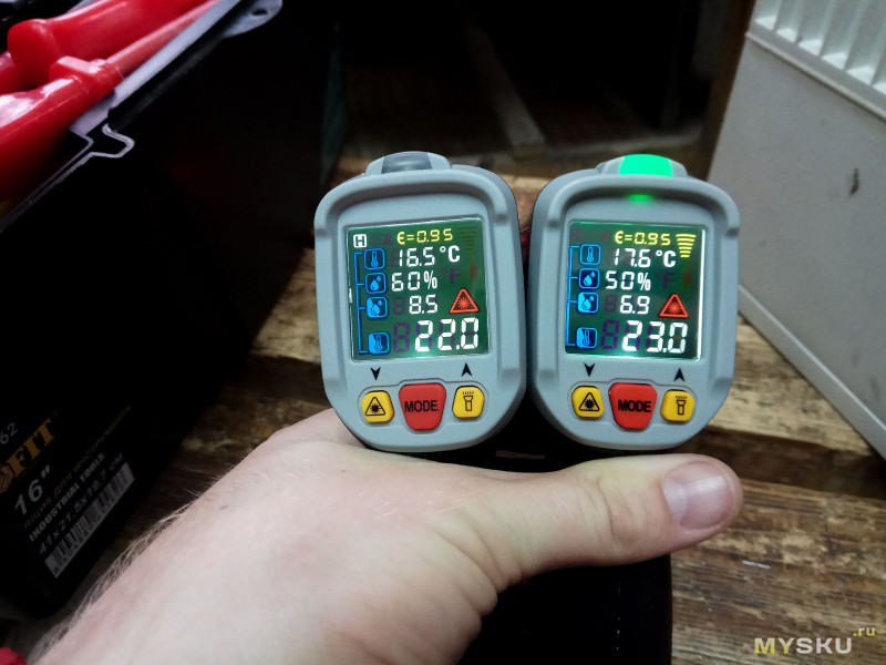 Пирометр Mustool MT6800 - много функционала за вменяемый ценник или в угоду тех. части? Осторожно трафик!