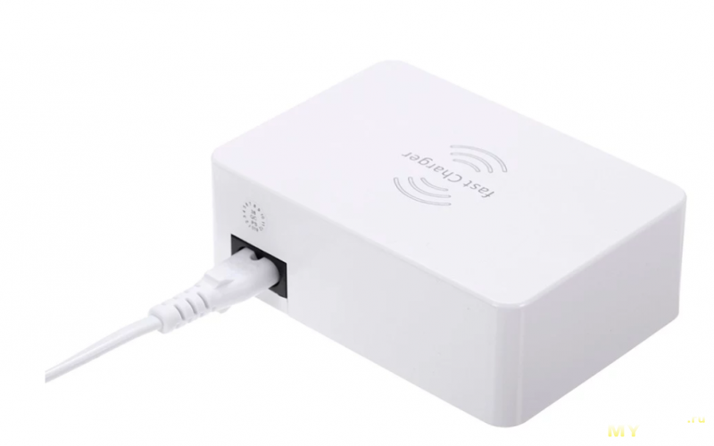 6 портовое ЗУ на 40W (Max 3.4A (Quick charge 5V3.0A; 9V2.3A; 12V1.5A) + Wireless Charging за 24,32$