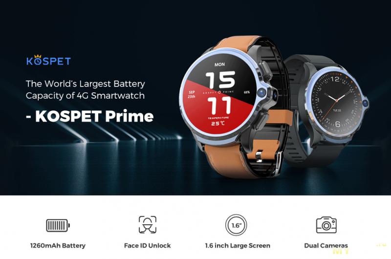 Умные часы KOSPET Prime 4G за 149.99$