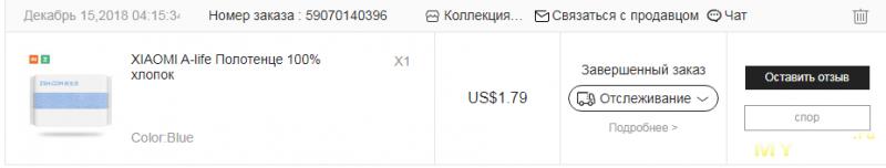 Хлопковое полотенце Xiaomi ZSH A-life