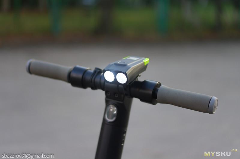 Велофара XANES SFL16 - 6 режимов работы и бешеный звонок.