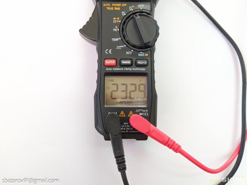 Компактные токовые клещи Aneng ST209 с возможностью измерять сечения до 240мм2