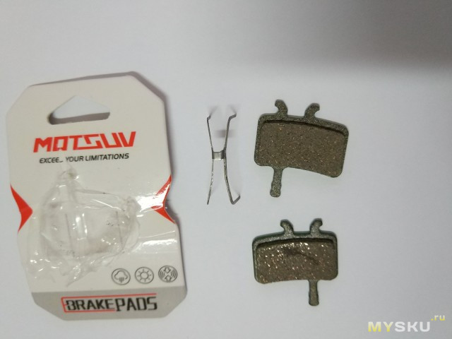 Тормозные колодки для дисковых тормозов велосипеда