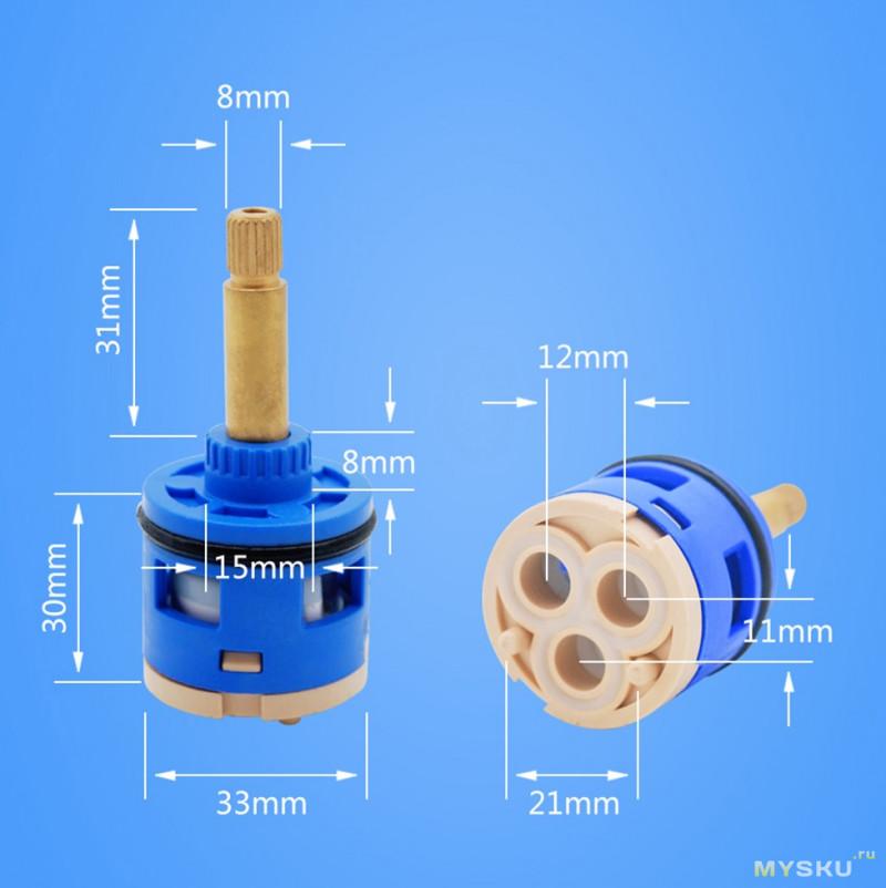 Термостатический смеситель для ванной GIZERO ZR960