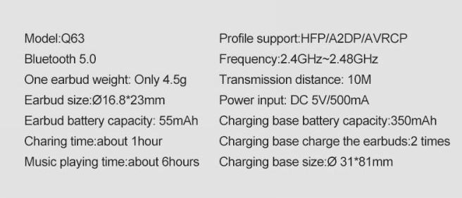 AliExpress: Bluetooth наушники OVEVO Q63