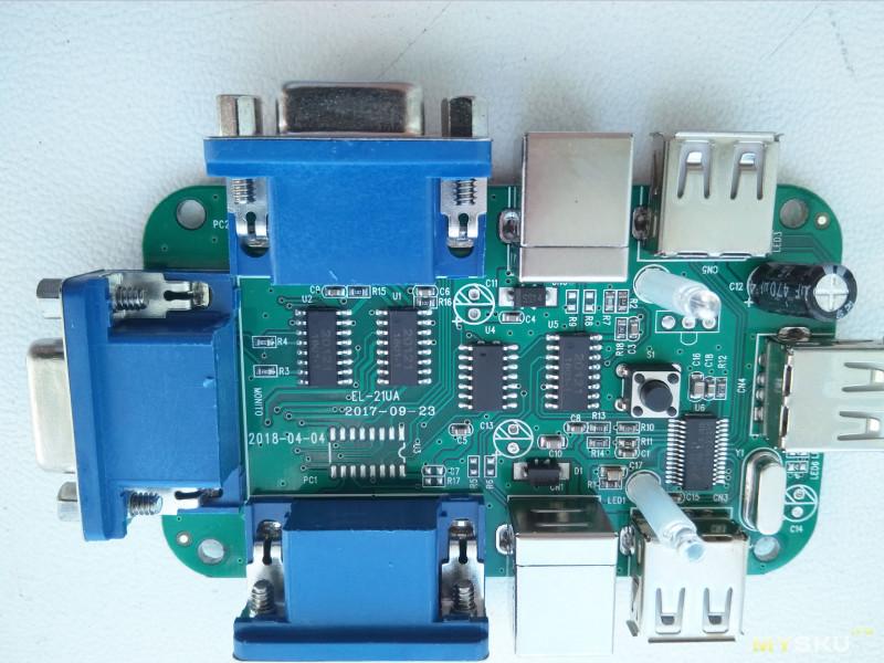 USB KVM Switch BOX (USB 2.0, VGA USB 1920*1440)