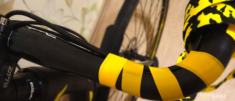 Лента для обмотки велосипедного руля и прочих рукояток.