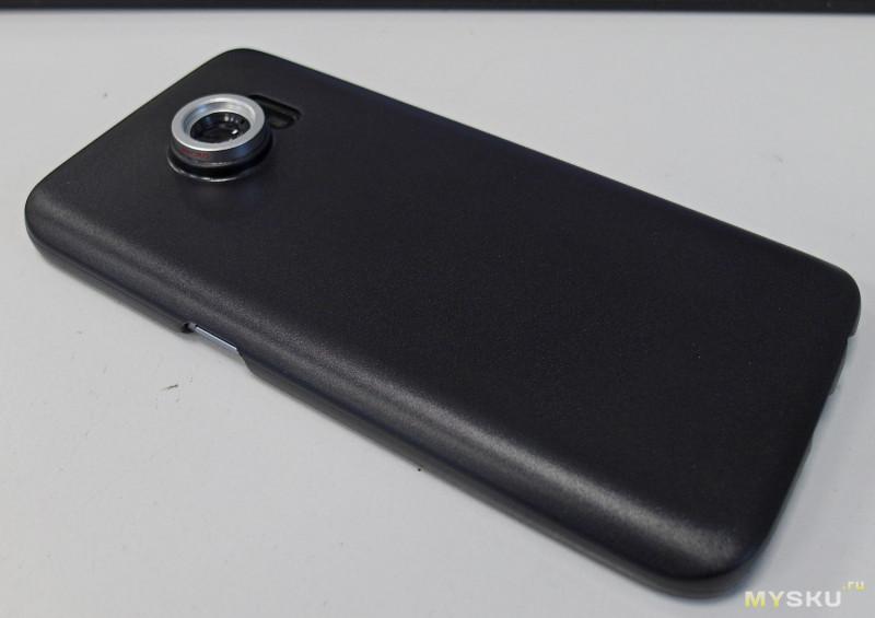 APEXEL CL-85. Чехол с креплением для линз (3в1) для Samsung Galaxy S7