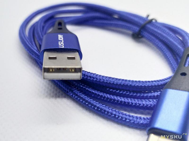Кабель USLION 3A USB Type-C