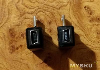 Angled Mini USB 5pin Female to Micro USB Male или Угловые мини в микро USB