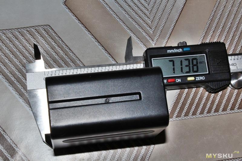 Аналог аккумулятора Sony NP-F960 от Andoer.