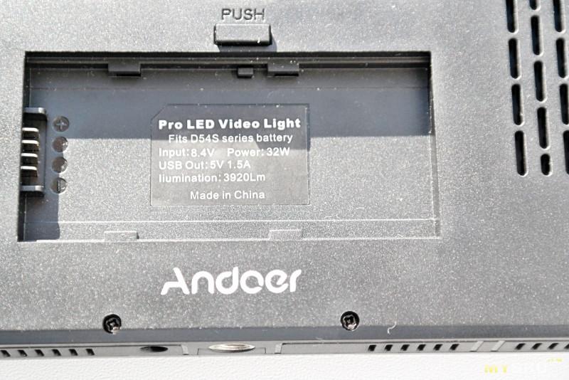 Видеосвет Andoer W500