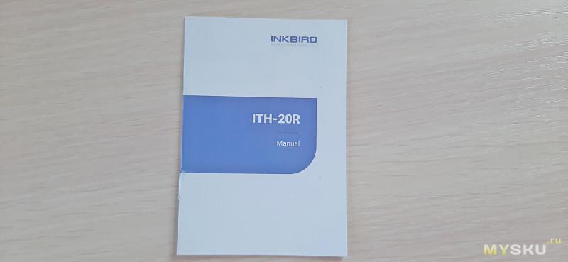 Термометр-гигрометр  Inkbird ITH-20R с выносным датчиком.