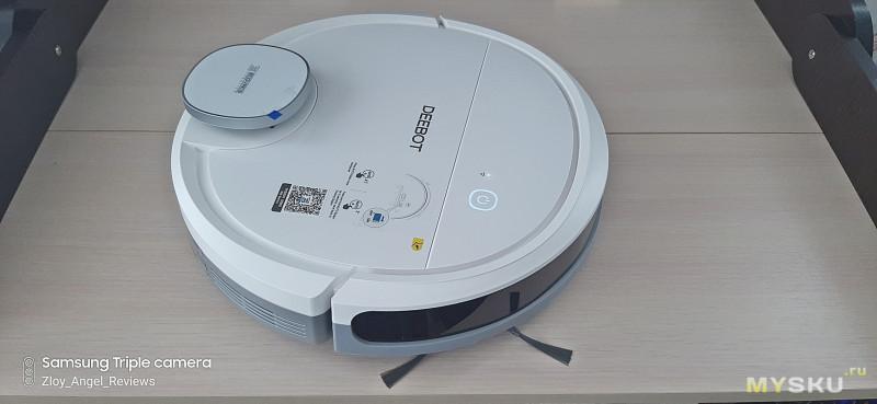 Робот-пылесос Ecovacs Deebot OZMO 902 с лазерным дальномером, софтовой зональной уборкой и программными виртуальными стенами.