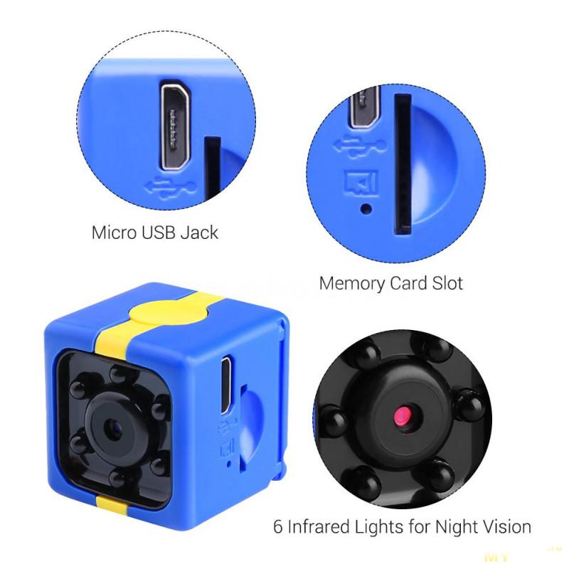 Мини камера 720р с ночным видением за 7,99$