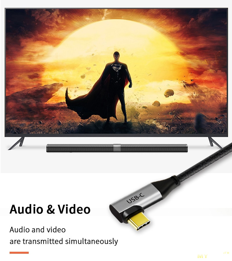 Мультимедиа кабель TypeC-HDMI CABLETIME 1,8м за 9,99$