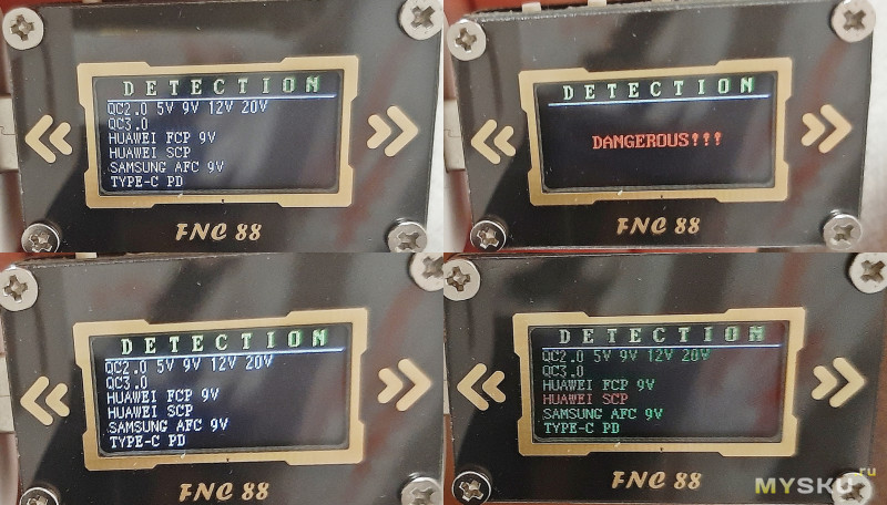 Тестер-триггер TypeC Fnirsi FNC88