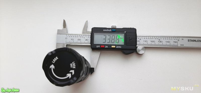 Обалденный, компактный, но мощный фонарик Fitorch p25 на аккумуляторе 26350 и 4х cree xpg3 с 3000Lm в турбо режиме