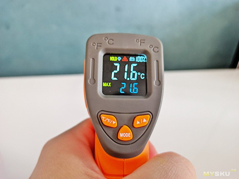Инфракрасный термометр InkBird  INK-IFT01. Сравнение показаний с именитыми Fluke