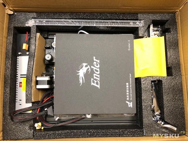 "3D принтер Ender 3 ""для новичка, печатающий из коробки""."