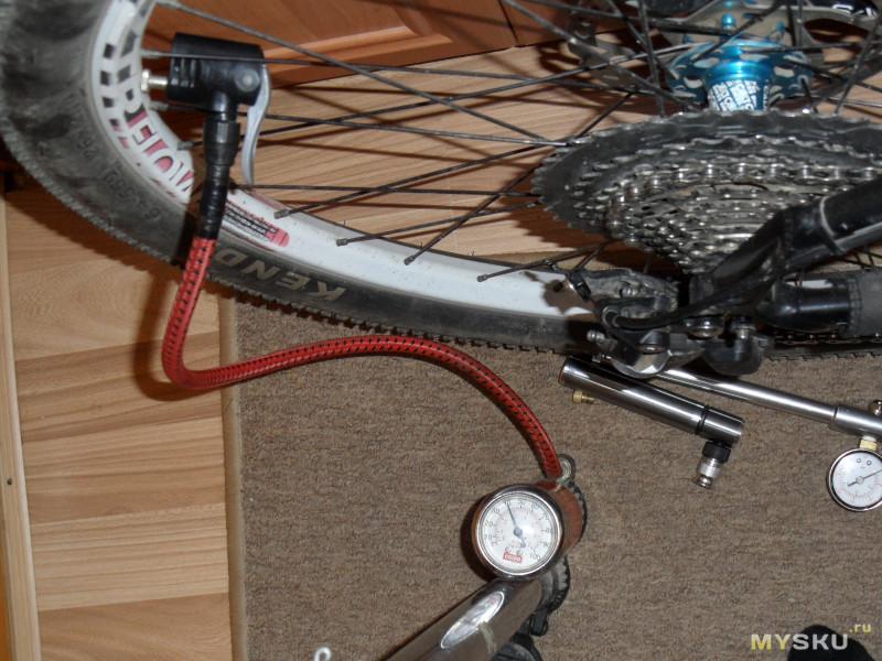 Очень компактный велонасос