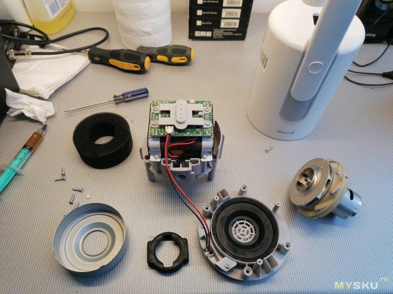 Разборка и мелкий ремонт пылесоса Xiaomi Deerma VC20