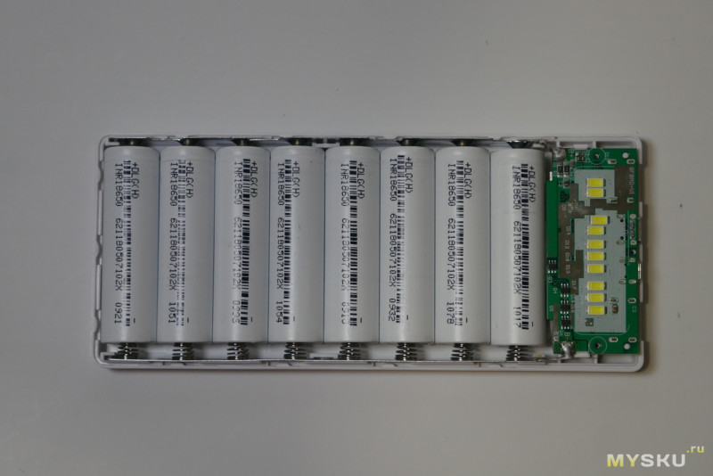 Pinguan GF8PD KIT повербанк на 8х18650 с PD QC3.0 FCP