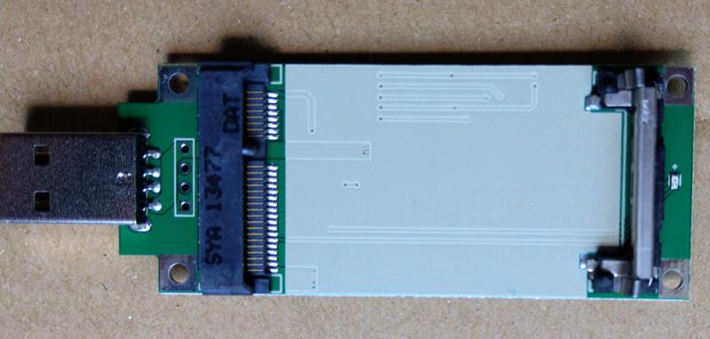 Переходник USB->Mini PCIE для WWAN card