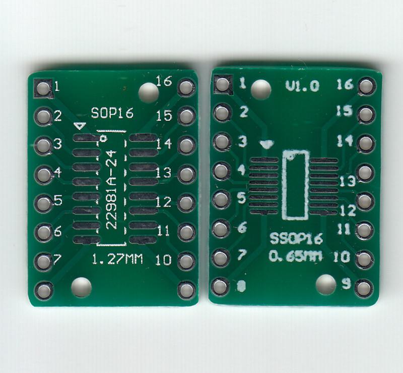 Адаптеры SOP16/SSOP16 для прототипирования