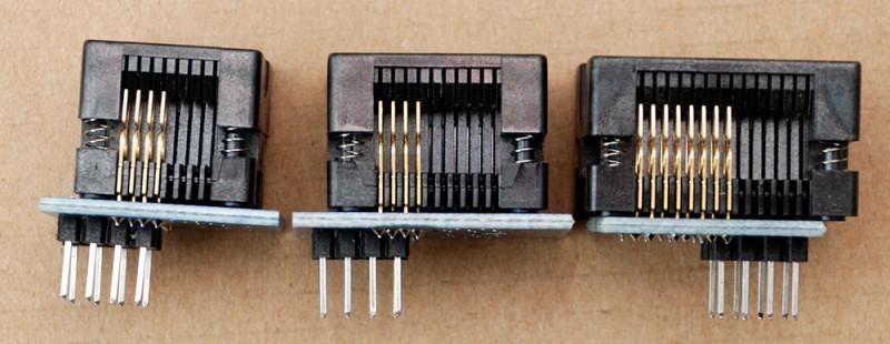 Панельки для программирования чипов в корпусе SOP8/16