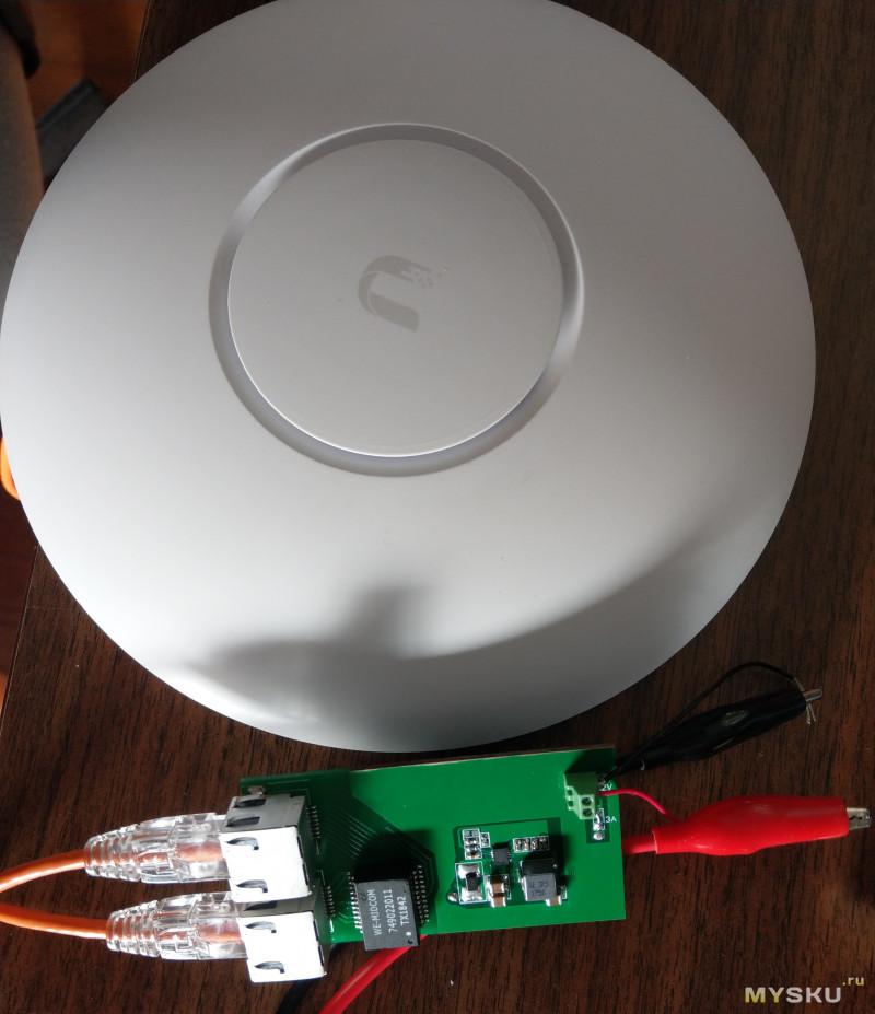 Самодельный гигабитный PoE инжектор с 12->48V преобразователем
