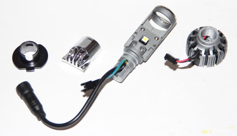 Первые светодиодные лампы с линзой для H7