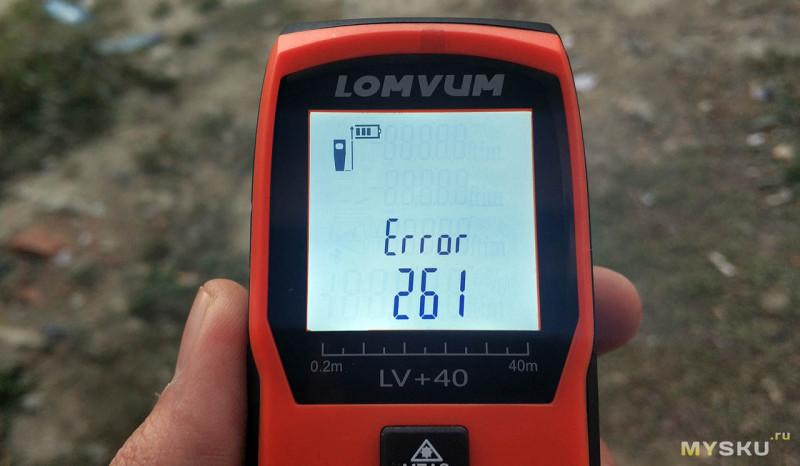 Лазерный дальномер Lomvum LV-A 40M с цифровым угломером.