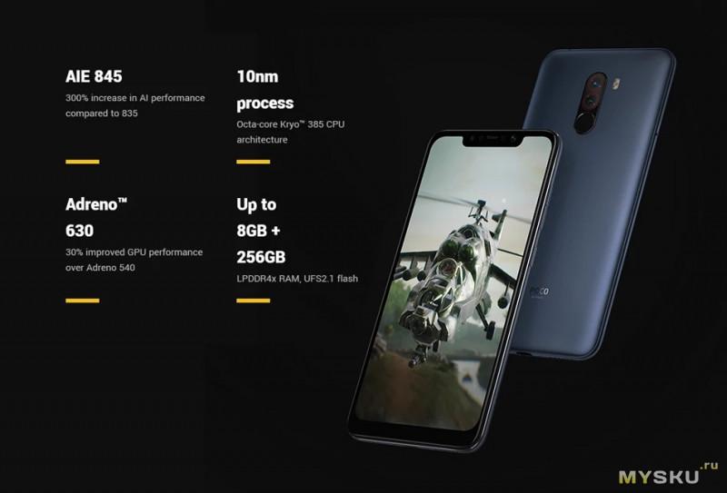 Смартфон Xiaomi Pocophone F1 6+64GB глобальная версия. Цена 237.99$