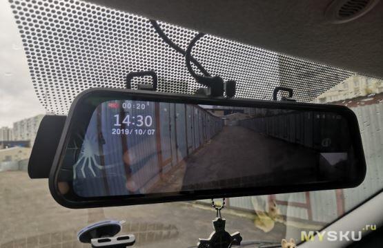 """Зеркало-регистратор OLESED T95S 10"""" FHD (две камеры 1080p) с купоном за 43.24$"""