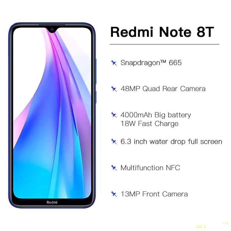 Смартфоны Redmi Note 8T 32/64/128Gb NFC/Global. Цена: 144$/152$/179$
