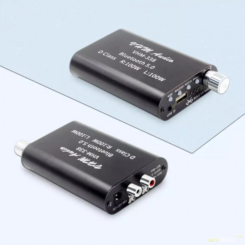 Аудио Bluetooth 5.0 усилитель VHM-338 200W, с купоном за 12$