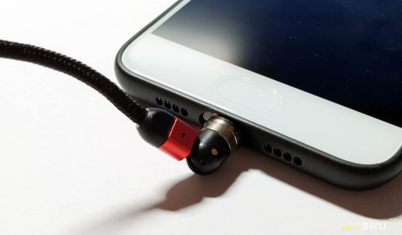 Магнитный кабель USLION с поворотом головы на 180/360 градусов.