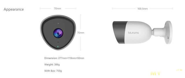 FullHD IP камера Blurams с купоном продавца за 24.99$